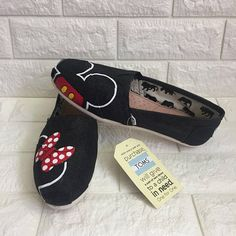 b0b3c3bf6cc5 Glitter Minnie Mouse Disney Shoes  MICKEY mouse shoes  Disney World Shoes.  Painted Disney Shoes. Minnie Mouse Bow Shoes. Simple Disney