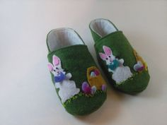 Easter Bunny with Basket Baby Shoes