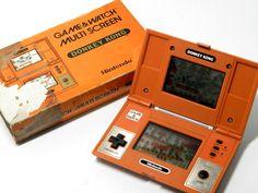 Nintendo Game & Watch Multi Screen Donkey Kong DK-52 MIJ 1982 (Box is damgaged) #Nintendo