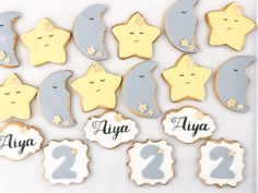 Excited to share the latest addition to my #etsy shop: Twinkle Twinkle Little Star and Moon Cookies!!! Aren't they cute? ✨⭐️✨ #customcookies #personalized #twinkletwinklelittlestar