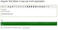 Angular Text Editor in asp.net mvc5 web application