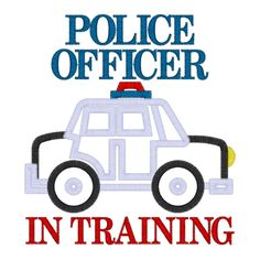 Police (19) Police Officer In Training Car Applique 5x7