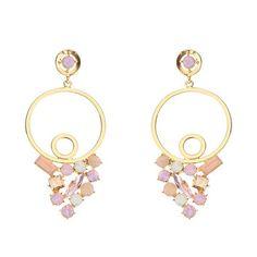 f554f5838 JASSY® Hollow Crystal Rose Water Opal Rhinestones Geometric Earrings Gift  for Women