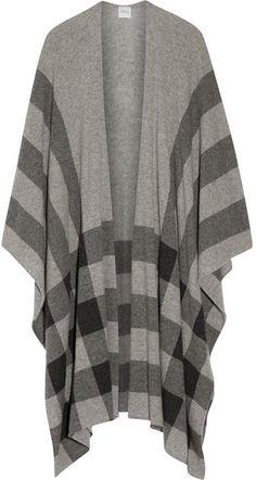 Madeleine Thompson - Shipton Checked Cashmere Wrap - Light gray