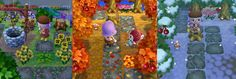 """fox-teeth: """" I regularly get asked for the QR codes of the stepping stone path I use in my ACNL town, so here are all the seasonal versions I had handy for those that would like them. A few caveats for people interested in using these QR codes: •..."""
