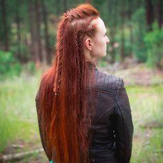 Octavia's Warrior Hair. Check out the full tutorial at silvousplaits.com/octavias-warrior-hair/