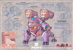 """Puppy"" by Cosmin Podar on #INPRNT - #illustration #print #poster #art"