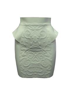 Joy Williams embossed mini skirt. $176.76, via Etsy. LATEX AND BEAUTIFUL!