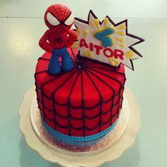 #spiderman#superheroe#cake #lapequeñapasteleriademama (en La Pequeña Pastelería de Mamá)