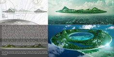 Donut-Shaped Floating Cities : Heaven and Earth