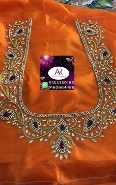 vijaya Kumaris # 370 Media statistics and analysis - embroidery Hand Work Blouse Design, Kids Blouse Designs, Simple Blouse Designs, Stylish Blouse Design, Aari Work Blouse, Wedding Saree Blouse Designs, Pattu Saree Blouse Designs, Embroidery Neck Designs, Aari Embroidery