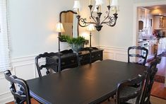 How To Paint Your Dining Room Furniture... I am finally going to get rid of my green furniture!