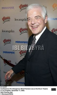 Confessions Of A Dangerous Mind Premiere was at the Bruin Theatre in Los Angeles. December 11, 2002. Nick Clooney dad © Bourquard/Stills