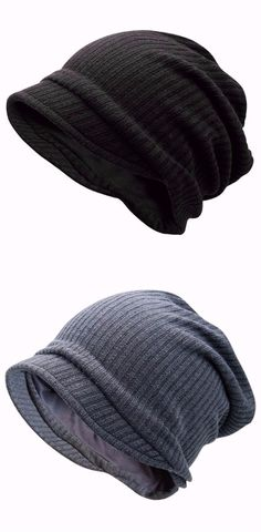 Striped Knitted Warm Beanie Hat d973c0ca25d0