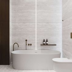 Like the lighting strip and bath shape Toilet And Bathroom Design, Restroom Design, Bathroom Bath, Bathroom Toilets, Bathroom Interior Design, Bath Taps, Washroom, Home Planner, Contemporary Bathrooms