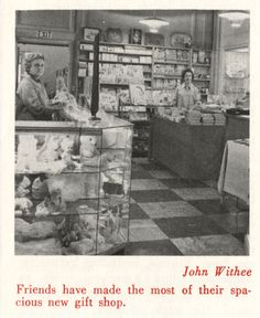 The gift shop at the Peter Bent Brigham Hospital in 1962.