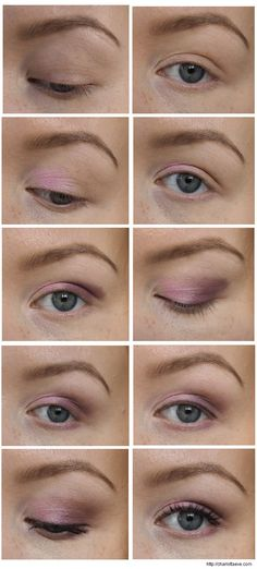 Light pink & purple eyeshadow pictorial | Charlotta Eve