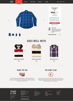 Frank and Oak eCommerce Product Page Layout