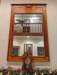 Large Wood Craftsman Mirror, Mission, Handmade, Home Decor by Aikin Innovations Craftsman Mirrors, Craftsman Living Rooms, Craftsman Decor, Craftsman Style, Wood Shop Projects, Small Wood Projects, Mission Style Homes, Mission Style Decorating, Style Artisanal
