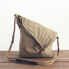 Leather Canvas BagMessenger bagCow Leather Men's by SoBag1989, $45.00