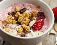 Healthy Breakfast Smoothies, Healthy Snacks, Healthy Eating, Healthy Recipes, Muesli, Smoothie Bowl, Yummy Food, Tasty, No Cook Desserts