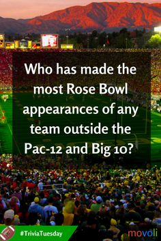 Who has made the most Rose Bowl appearances of any team outside the Pac-12 and Big 10? #TriviaTuesday