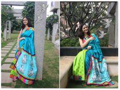 Matsya patch work silk saree- limited edition