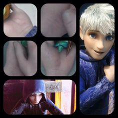 I was watching Rise Of The Guardians with my brothers on my phone and I noticed that there were weird lines on Jack's wrists and then I realized...Jack Frost has cut himself....I cried<<< ..... Oh...