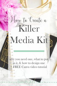 How to Create a Killer Media Kit Marketing Digital, Online Marketing, Social Media Marketing, Marketing Ideas, Content Marketing, Internet Marketing, Media Kit Template, Creating A Blog, Blogging For Beginners