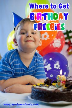 Places to get BIRTHDAY FREEBIES http://madamedeals.com/birthday-freebies/ #freebies #inspireothers