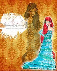 Disney Designer Princesses: Ariel - disney-princess Fan Art