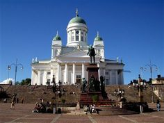 Senate Square dominates the skyline of Helsinki.
