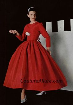 Couture Allure Vintage Fashion: How to Wear Red - 1955