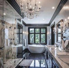 20 fantastic traditional bathroom designs you'll love — SP - Home Design Dream Bathrooms, Dream Rooms, Beautiful Bathrooms, Modern Bathrooms, Luxury Bathrooms, Mansion Bathrooms, Master Bathrooms, Romantic Bathrooms, Fancy Bathrooms