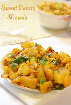 How to make Sweet Potato Masala ? / Sweet Pototo Masala Fry, sweet potato masala, potato, sweet potato masala, sweet potato masala fry, how to make sweet potato masala, veg dishes, veggie side dishes, sweet and spicy dishes, sweet potatoes, healthy dishes, dinner recipes, side dish for roti, chapathi, nutritious recipes, flavorful recipes