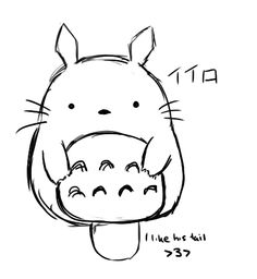 Totoro.  I think the katakana is wrong, though.  If I'm correct, it spells iiro in this picture.