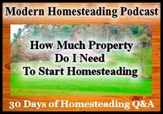 Today isDay 6 of our 30 days of homesteading Q&Aon the podcast where I have reached out to some of the best bloggers and podcasters in the homesteading space to answer your questions about ho…