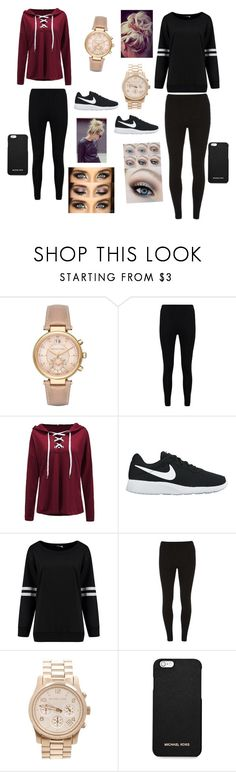 """Black Friday with my twin"" by mlchambers ❤ liked on Polyvore featuring Michael Kors, Boohoo, NIKE, Dorothy Perkins and MICHAEL Michael Kors"