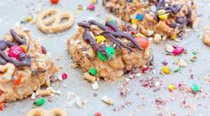 No-Bake Peanut Butter Confetti Bars