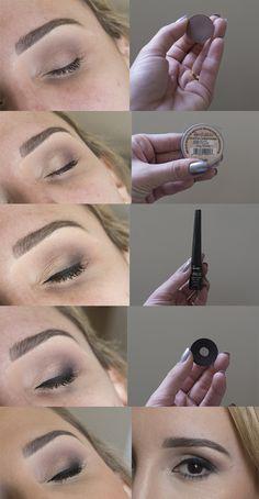 passo a passo tutorial maquiagem esfumada cores neutras facil para fazer