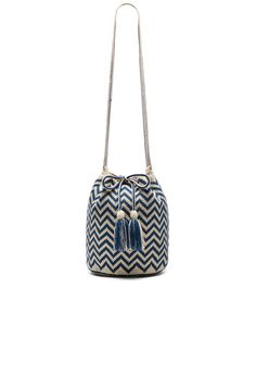 a79a9575f611 Shop for Guanabana Large Chevron Bucket in Azul at REVOLVE.
