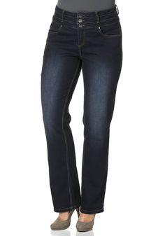 Typ , Jeans, |Materialzusammensetzung , 98% Baumwolle, 2% Elasthan, |Beinform , gerade, |Innenbeinlänge , ca. Normal-Größen 82,5 cm, Kurz-Größen 77,5 cm, Lang-Größen 89,5 cm, | ...