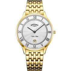 Mens Rotary Ultra Slim Watch GB08303/01 Gents Watches, Rotary, Gold Watch, Bracelet Watch, Sapphire, Slim, Bracelets, Silver, Men