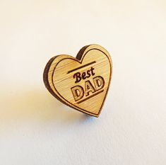 Wooden Tie Pin - Father's day present - Tiepin - Lapel Pin - Tie Tack - Boutonniere - Rustic - Modern - Father's Day gift - Best Dad
