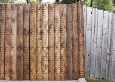 Handmade Wooden Growth Chart from the PopPop Shop