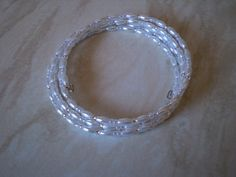 Memory Wire Bracelet made with Rice Beads from Glitterwitch. Craft Kits, Craft Supplies, Memory Wire Bracelets, Bead Crafts, Bracelet Making, Wax, Rice, Crafting, Beads