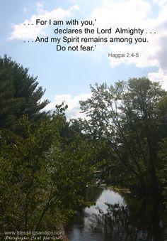 """Such a reassuring promise """".'For I am with you,' declares the Lord Almighty.'And my Spirit remains among you. Do not fear. The Great I Am, God Is Good, Bible Verses Quotes, Bible Scriptures, Give Me Jesus, Christian Love, Memory Verse, Walk By Faith, Do Not Fear"""