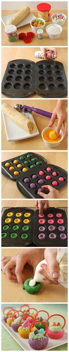 Easter basket cookies. Easy using refrigerated sugar cookie dough.