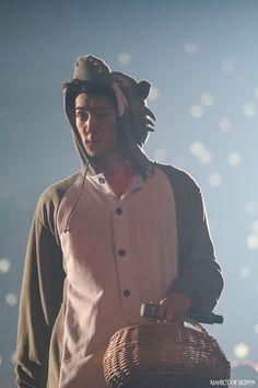 Sehun's wolf onesie <3   EXO