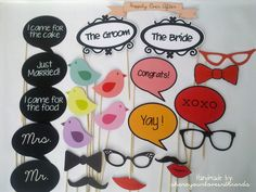 shareyourlovewithcards: Photo booth props for sale